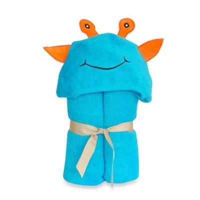 Little Ashkim Size 2T-5T Alien Hooded Kid's Turkish Towel in Turquoise