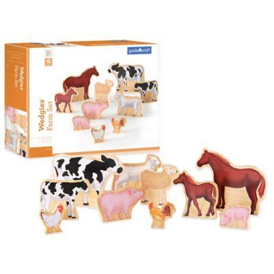Guidecraft™ Wedgies 10-Piece Farm Animals Set