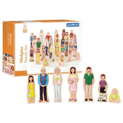 Guidecraft™ Wedgies 28-Piece Multi-Cultural Family Set