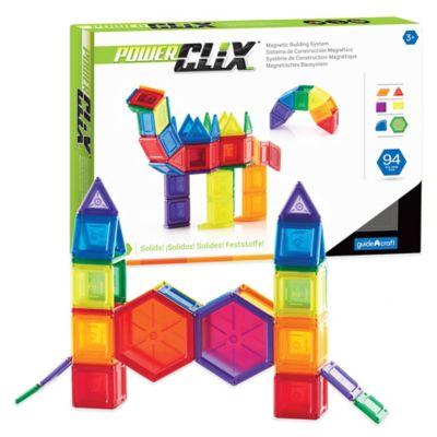 Guidecraft 94-Piece PowerClix® Solids Set