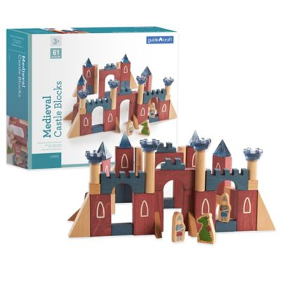 Guidecraft 61-Piece Medieval Castle Blocks