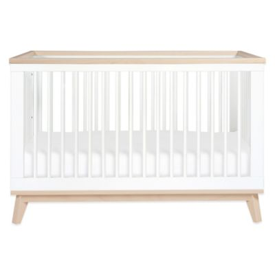 Babyletto Scoot 3-in-1 Convertible Crib in White/Washed Natural