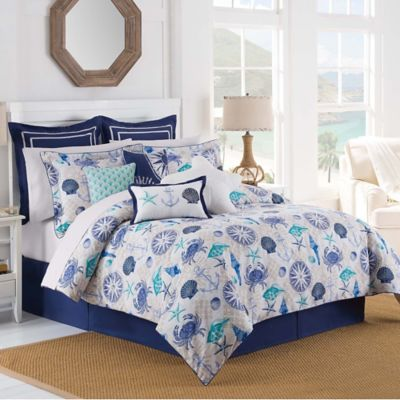 Williamsburg Barnegat Coastal Twin Comforter Set in Blue