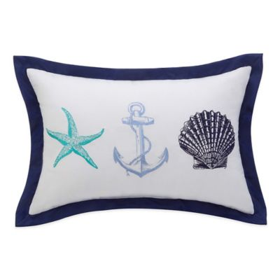 Williamsburg Barnegat Coastal Oblong Throw Pillow