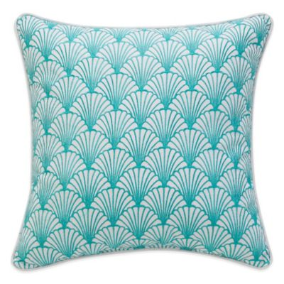Williamsburg Barnegat Sea Shell Square Throw Pillow