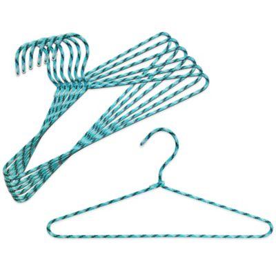 Studio 3B™ Braided Cord Hangers in Aqua (Set of 6)