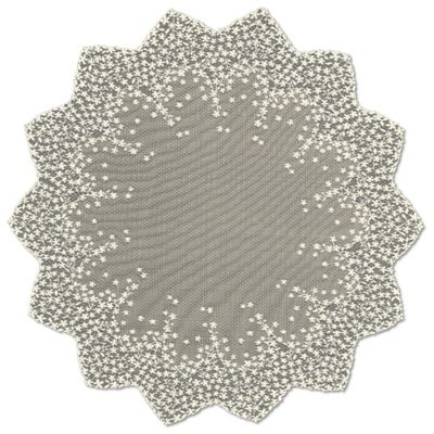 Heritage Lace® Blossom 42-Inch Round Table Topper in White