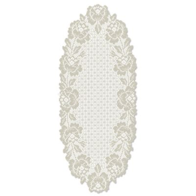 Heritage Lace® Cottage Rose 34-Inch Table Runner in Ecru