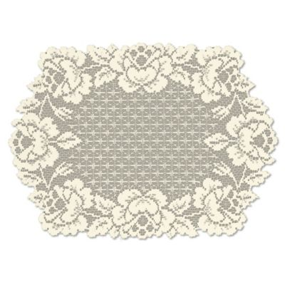 Heritage Lace® Cottage Rose Placemat in Ecru