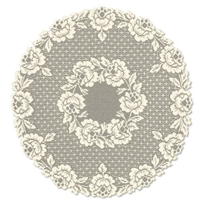 Heritage Lace® Cottage Rose 30-Inch Round Table Topper in Ecru