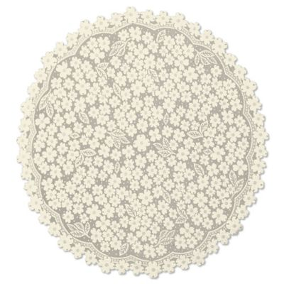 Heritage Lace® Dogwood 42-Inch Round Table Topper in Ecru
