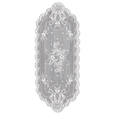 Heritage Lace® Floret 55-Inch Table Runner in White