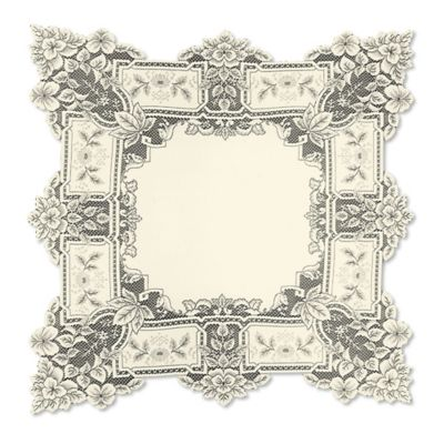Heritage Lace® Heirloom 36-Inch Table Topper in White