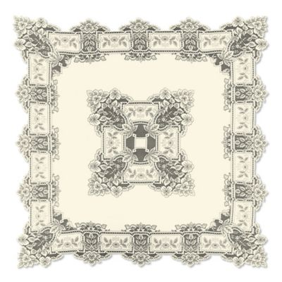 Heritage Lace® Heirloom 58-Inch Square Tablecloth in Ecru