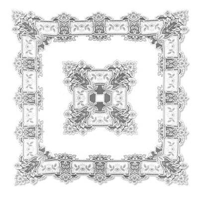 Heritage Lace® Heirloom 58-Inch Square Tablecloth in White