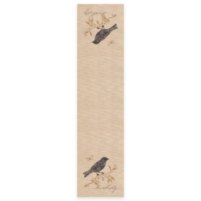 "Heritage Lace® Meadow Song 60-Inch ""Live Simply"" Table Runner"