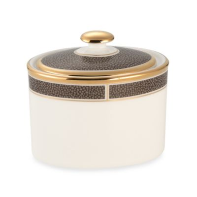 Wedgwood® Shagreen Cocoa Sugar Bowl