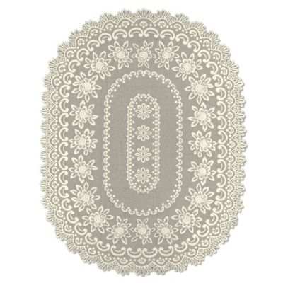 Heritage Lace® Rose 60-Inch x 108-Inch Tablecloth in Ecru