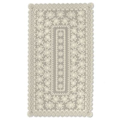 Heritage Lace® Rose 60-Inch x 108-Inch Rectangular Tablecloth in Ecru