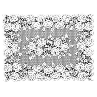 Heritage Lace® Tea Rose Placemat in White