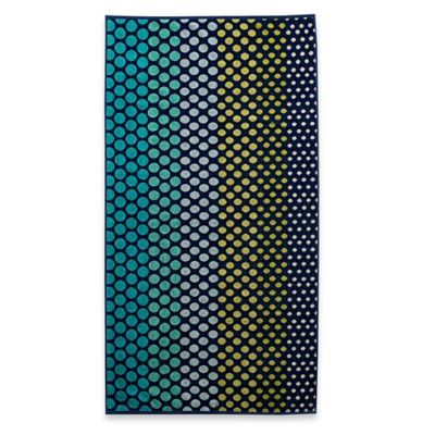 Ombre Dot Yarn Dyed Jacquard Velour Beach Towel in Multi