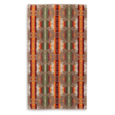 Pendleton® Chief Joseph Oversized Jacquard Beach Towel in Tan