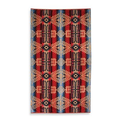Pendleton® Canyon Oversized Jacquard Beach Towel in Mauve