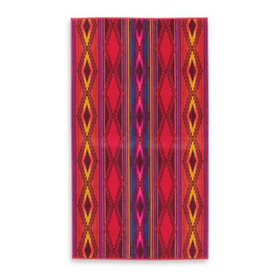 Pendleton® River Oversized Jacquard Beach Towel in Red