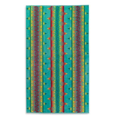 Pendleton® Coyoacan Oversized Jacquard Beach Towel in Turquoise