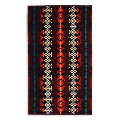 Pendleton® Jerome Oversized Jacquard Beach Towel in Maroon