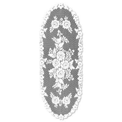 Heritage Lace® Victorian Rose 36-Inch Table Runner in White