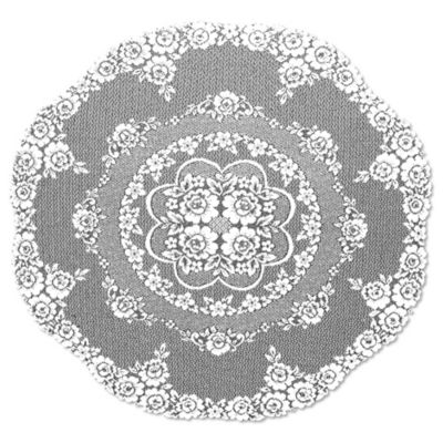 Heritage Lace® Victorian Rose 43-Inch Round Table Topper in White