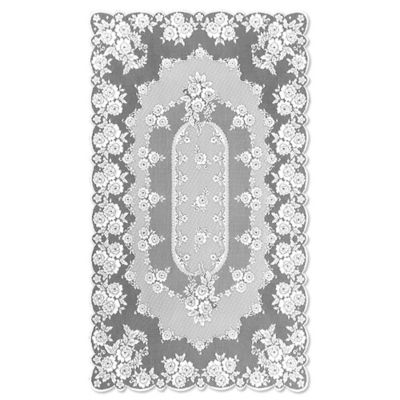 Heritage Lace® Victorian Rose 60-Inch x 108-Inch Tablecloth in White