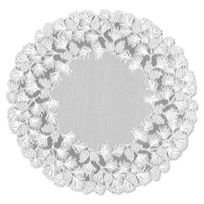Heritage Lace® Woodland 48-Inch Round Table Topper in White