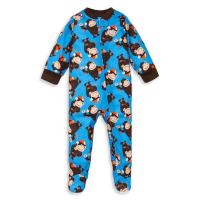 Little Me® Size 12M Skateboarding Gorilla Footed Pajama in Blue