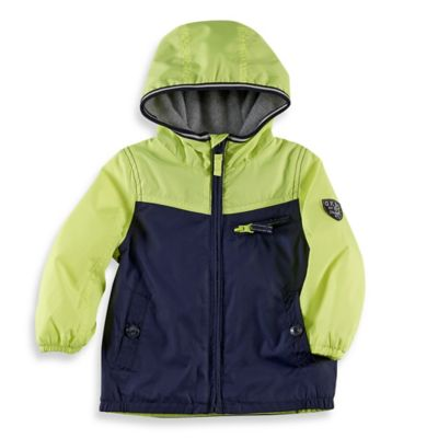 OshKosh B'gosh® Size 4T Hooded Fleece Active Jacket in Navy/Yellow