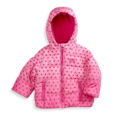 OshKosh B'gosh® Size 4T Polka Dot Bubble Coat in Pink