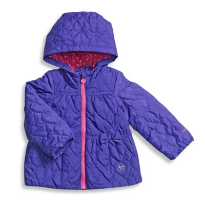 London Fog® Size 12M Quilted Heart Jacket in Purple