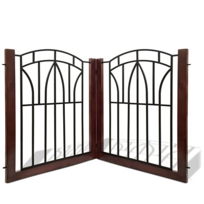 Bombay ™ Arlington Pet Gate in Black/Mahogany