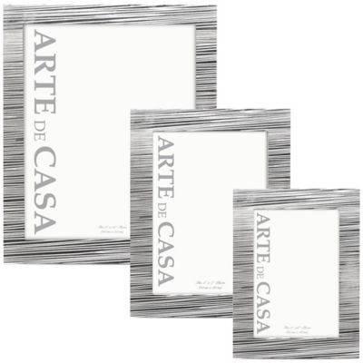 Arte de Casa Aversa 5-Inch x 7-Inch Picture Frame in Silver