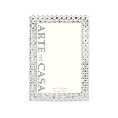 Arte de Casa Franca 4-Inch x 6-Inch Picture Frame in Silver