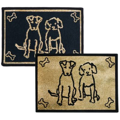 PB Paws by Park B. Smith Dog Friends 19-Inch x 27-Inch Pet Mat in Gold