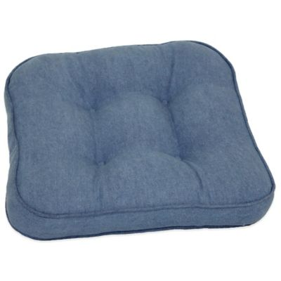 Denim Chair Pad in Blue