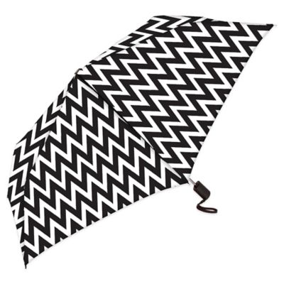 Auto Open & Close Slim Compact Rain Umbrella in Dominq