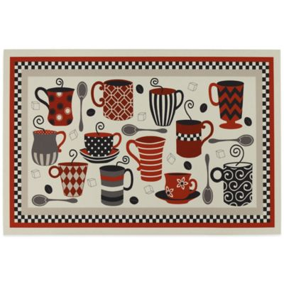 Mohawk Coffee Shop 18-Inch x 12-Inch Placemat in Red