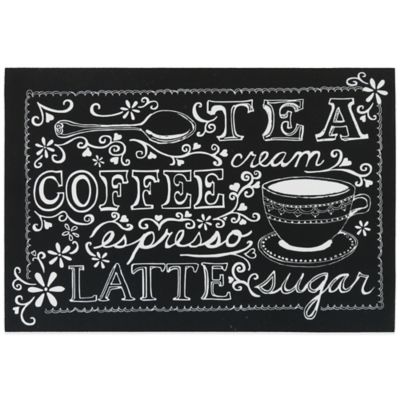 Mohawk Coffee Sketch 18-Inch x 12-Inch Placemat in Black
