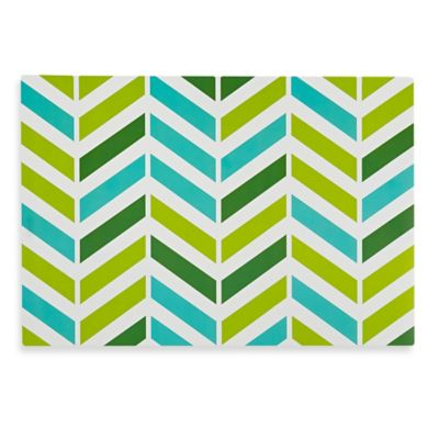 Chevron Stripe Plastic Placemat