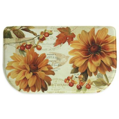 "Bacova ""Fall In Love"" Memory Foam Kitchen Mat in Orange"