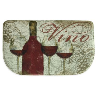 Bacova Vino 18-Inch x 30-Inch Memory Foam Slice Kitchen Mat in Burgundy