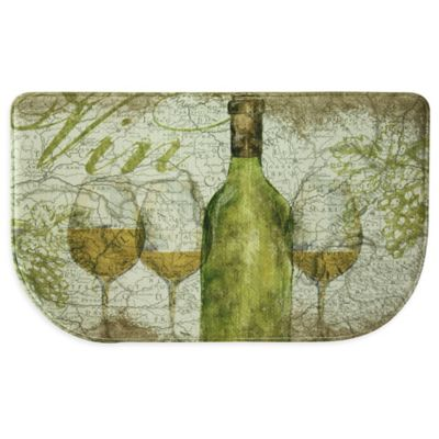 Bacova Vino 18-Inch x 30-Inch Memory Foam Slice Kitchen Mat in Green